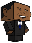 election-obama obama toy free template paper toy pattern