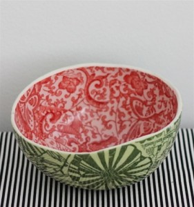 Porcelain Watermelon Bowls