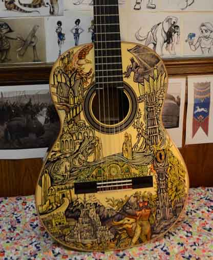 Lord of the Rings Guitar Front